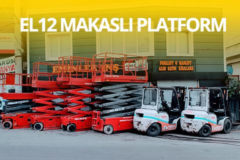 EL12 Akülü Makaslı Platform